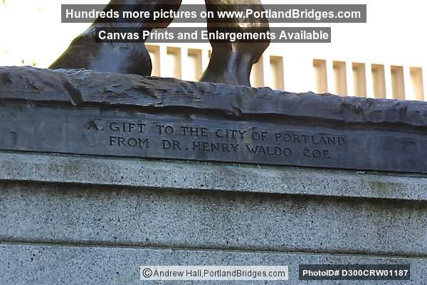 Theodore Roosevelt Statue inscription, Park Blocks, Portland Oregon