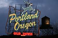 Portland Oregon Sign Dusk