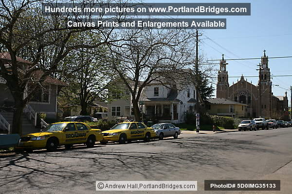 Alberta Street Taxis, St. Andrew Catholic Church (Portland, Oregon)