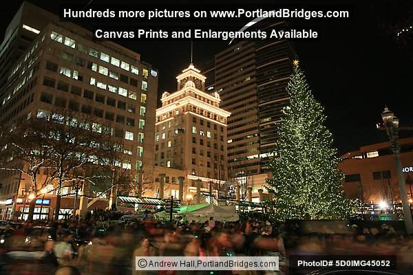 Portland Pioneer Courthouse Square Christmas Tree Lighting 2008 : lighting portland oregon - azcodes.com
