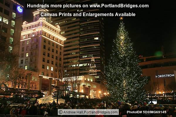 Portland Christmas Tree Lighting, 2010 (Photo, PortlandBridges.