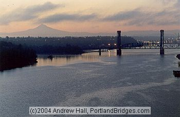Portland Railroad Bridges, Mt. Hood, Portland Riverfront