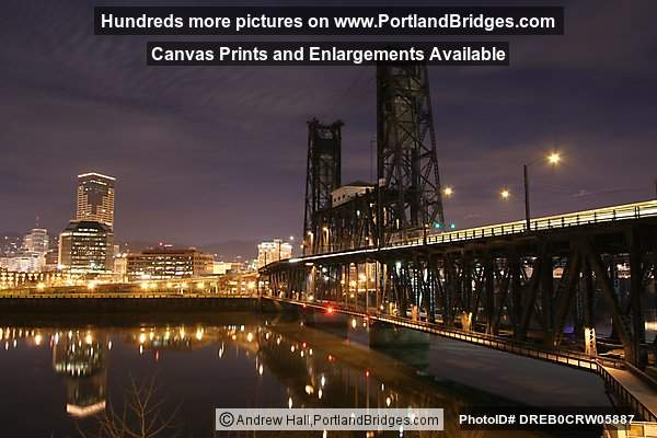 Steel Bridge, Willamette River Reflections, Dusk, River Reflections (Portland, Oregon)