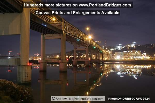 Marquam Bridge, Dusk (Portland, Oregon)