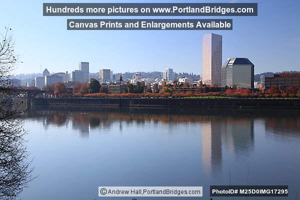 Willamette River Reflections, US Bancorp Tower, Portland