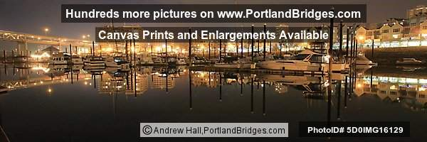 Riverplace Marina, Night, Reflections (Portland, Oregon)