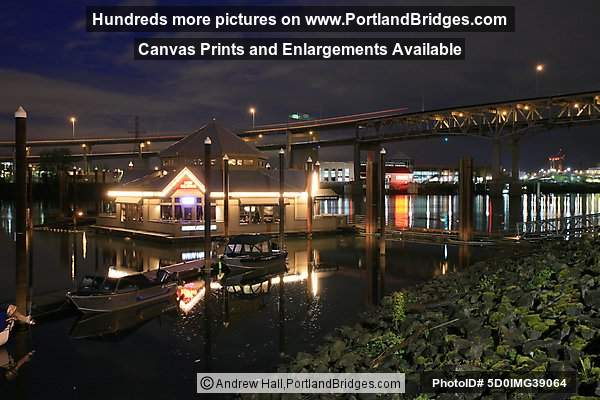 Marina Fish House (formerly Newport Bay), Riverplace, At Night (Portland, Oregon)