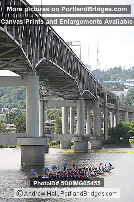 Dragon Boat Races, Portland Rose Festival, Marquam Bridge