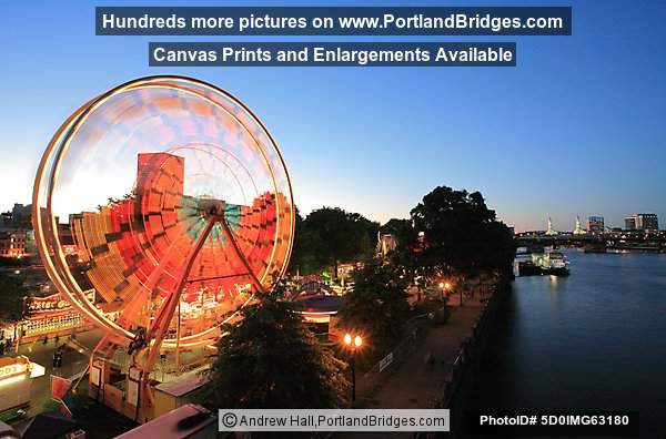 Rose Festival Ferris Wheel, Willamette River (Portland, OR)