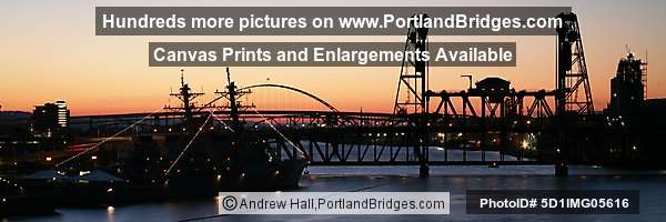 Steel Bridge, Sunset, Rose Festival Fleet