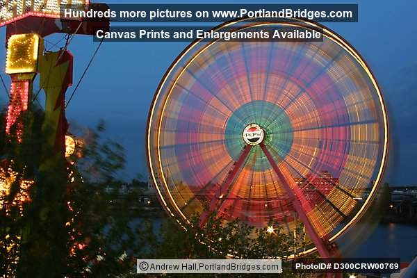 Rose Festival, Ferris Wheel, Spinning