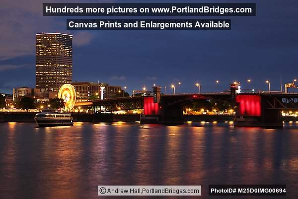 US Bancorp Tower, Rose Festival Ferris Wheel, Morrison Bridge (Portland, Oregon)