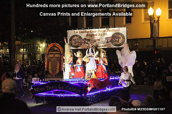 Starlight Parade 2012: City of La Center Float (Portland, Oregon)