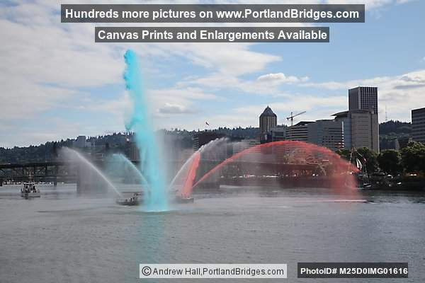 Portland Fireboat, Blue and Red Streams