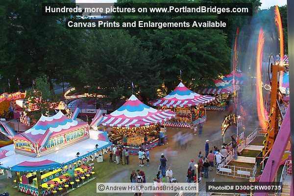 Rose Festival Rides at Dusk (Portland, Oregon)