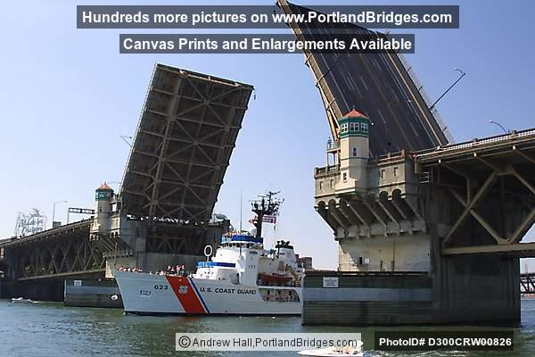 Burnside Bridge, Coast Guard Ship, Rose Festival (Portland, Oregon)