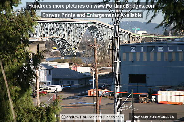 Ross Island Bridge, from South Waterfront (Portland, Oregon)