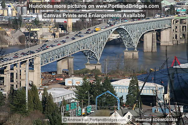 Ross Island Bridge, Daytime (Portland, Oregon)