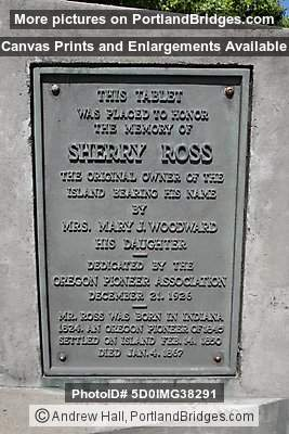 Sherry Ross Plaque, Ross Island Bridge (Portland, Oregon)