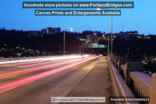 Light Streaks on Ross Island Bridge (Portland, Oregon)