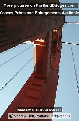 Golden Gate Bridge Looking Up