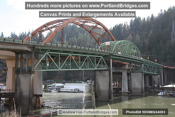 Old and New Sauvie Island Bridge Spans (Portland, Oregon)