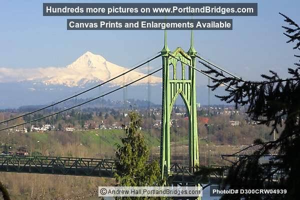 St. Johns Bridge and Mt. Hood (Portland, Oregon)