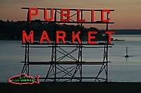 Seattle Pike Place Market Dusk