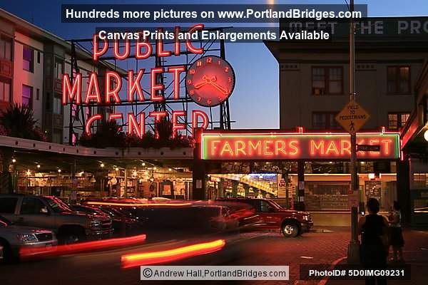 Seattle, Near Pike Place Market, 1st Ave, Downtown