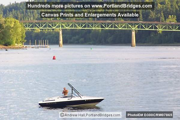 Sellwood Bridge from Portland Spirit, Willamette River
