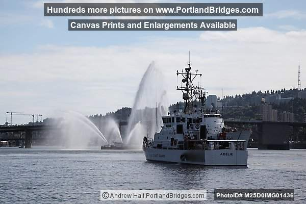 Burnside Bridge Open, Portland Fire Boat, USCGC Adelie