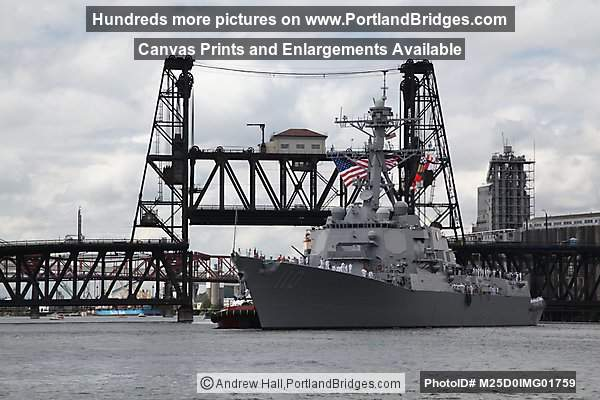 Steel Bridge,  USS William P. Lawrence (Portland, Oregon)