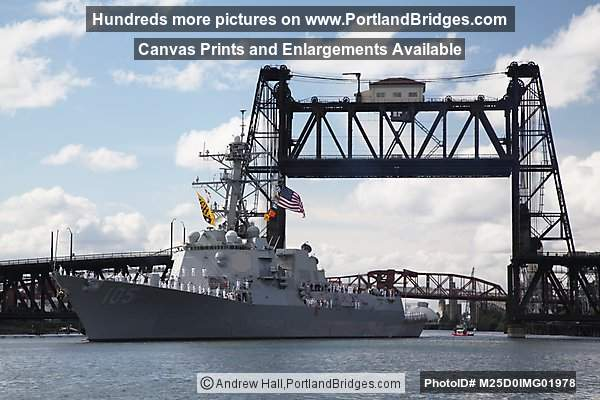 USS Dewey, Steel Bridge, Willamette River (Portland, Oregon)