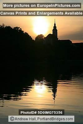 St. Joseph's Church at Sunset, Maribor, Slovenia