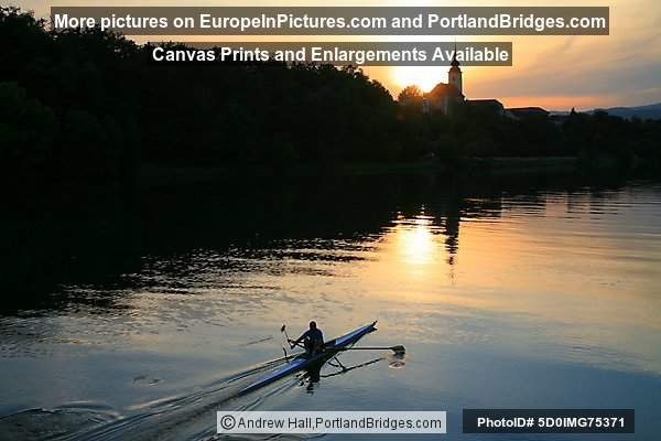 Kayaker, St. Joseph's Church, Sunset, Maribor