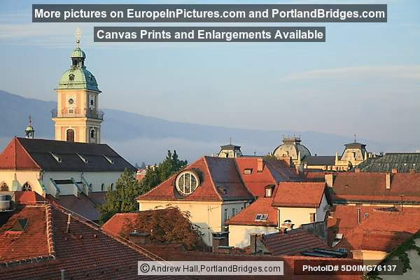 Maribor Cathedral, Red Roofs, Slovenia