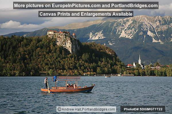 Pletna Boat, Bled Castle, Lake Bled