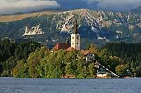 Church of the Assumption, Island, Lake Bled, Slovenia