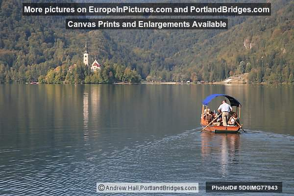 Church of the Assumption, Island, Pletna Boat, Lake Bled
