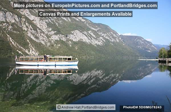 Boat on Lake Bohinj