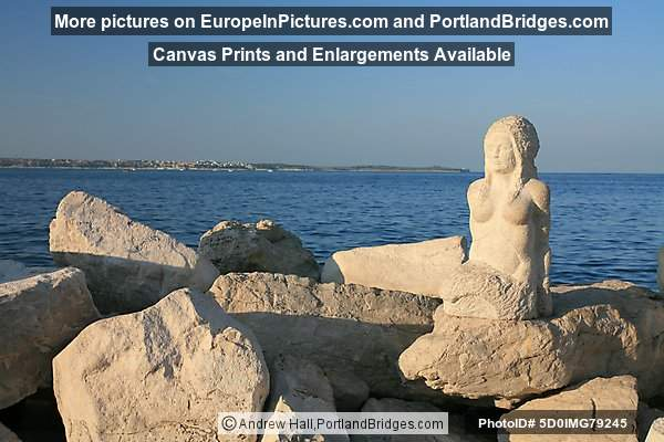Mermaid Statue, Rocks, Piran, Slovenia