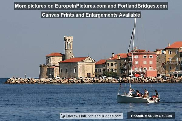 Boat, Lighthouse, Piran, Slovenia