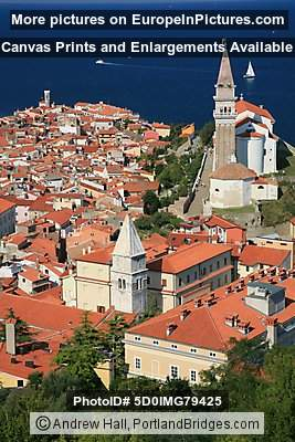 Piran, Slovenia from Old Town Walls