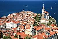 Piran, Slovenia view from Town Walls