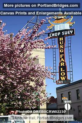 Hung Far Low, Chinatown, Spring Blossoms, Portland