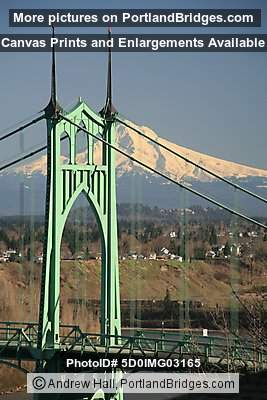 St. Johns Bridge, Mt. Hood (Portland, Oregon)