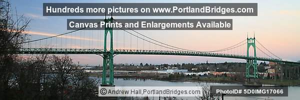 St. Johns Bridge Panorama (Portland, Oregon)