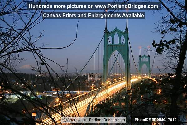 St. Johns Bridge, Light Streaks (Portland, Oregon)