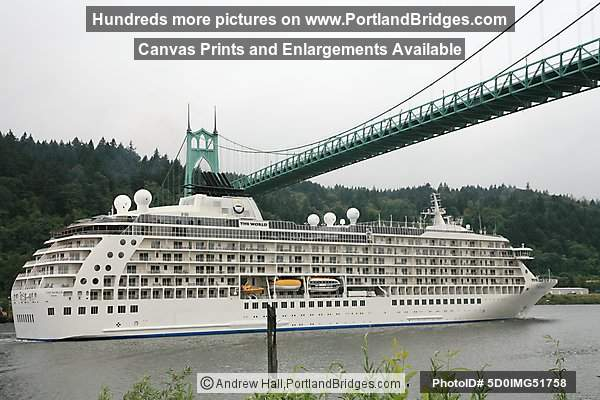 The World, Sailing under St. Johns Bridge (Portland, Oregon)