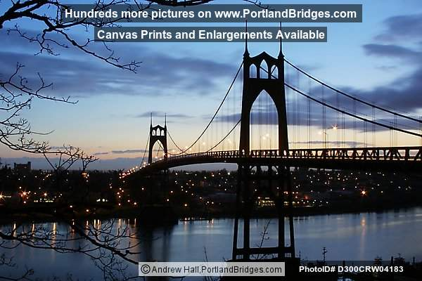 St. Johns Bridge, Daybreak (Portland, Oregon)